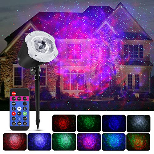 Greenclick Star Projector Lights Ocean Wave Projector Night Light Indoor Outdoor Decorative Lights projector for Halloween Room Wedding Party Festival Holiday etc