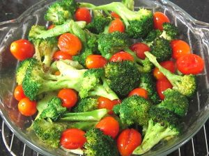 Baked-Veggies-broccoli-and-cherry-tomatoes