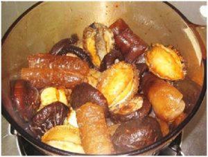 Braised-Abalone-Sea-Cucumber-and-Mushrooms-Recipe