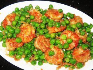 Fried-Prawns-with-Sweet-Garden-Peas-Recipe