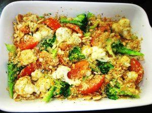 Sprinkle-cracker-crumbs-onto-vegetables-Recipe
