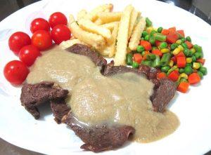 Pan-Fry-Beef-Steak-with-Mushroom-Sauce-Recipe