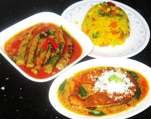 Grilled-Salmon-with-Curry-Okra-and-Turmeric-Rice-set-meal-Recipe