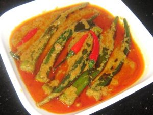 Curry-Okra-for-Spices-Salmon-Set-Meal-Recipe