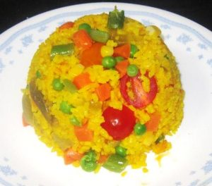 Turmeric-Rice-for-Grilled-Spice-Salmon-set-meal-Recipe