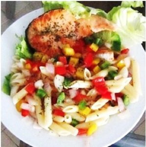 Tasty-Pasta-With-Grilled-Salmon-Recipe