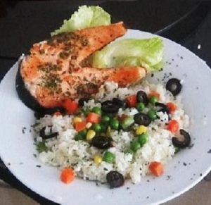 Olive-Rice-With-Salmon-Recipe